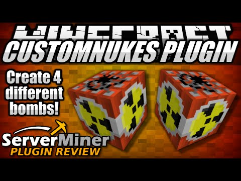 How to craft bombs in Minecraft with CustomNukes Plugin