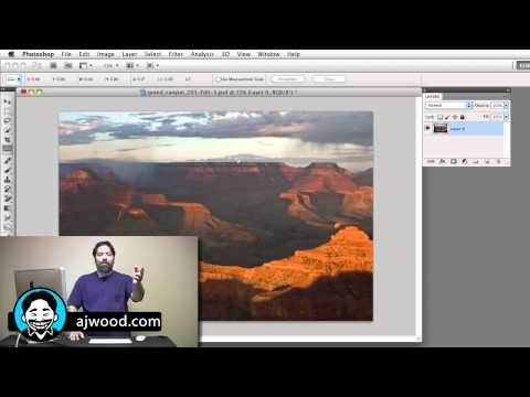 ajwood - http://ajwood.com/icc9 - I Create Content #9. Learn three different ways to straighten your photos, images & pictures in Photoshop. Share this video, Tweet t...