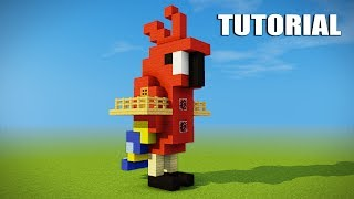 Minecraft Tutorial: How to make a Parrot house - Cool Survival House - Tree House