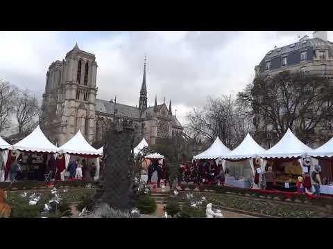 Marché de Noël Notre-Dame le 16 décembre 2017 (photos à la fin de la vidéo)