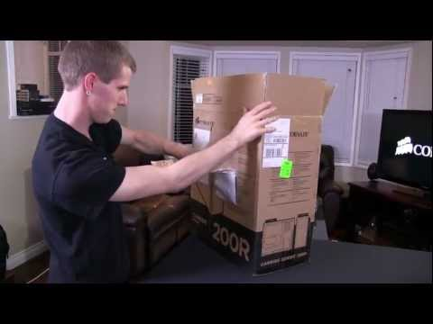 Corsair 200R Value Gaming Carbide Series Computer Case Unboxing & First Look Linus Tech Tips