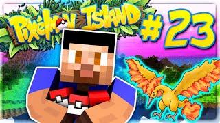 FIRST LEGENDARY! - PIXELMON ISLAND SMP #23 (Pokemon Go Minecraft Mod)