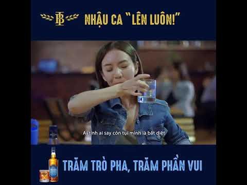 Thu Trang – Tiến Luật quảng cáo rượu Imperial Blue khi bị luật nghiêm cấm