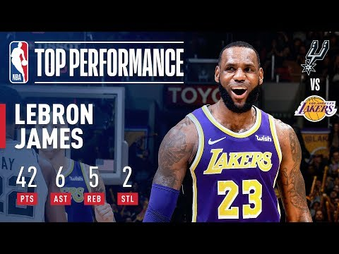 LeBron's 42 Points Leads Lakers to 4th Consecutive Win   December 5, 2018