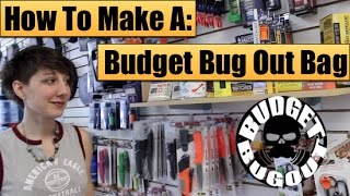 Making A Budget Bugout Bag [$100] | Buying Survival Kit Items -- Budget Bug Out 2015