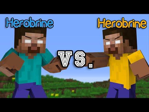 Herobrine vs. Herobrine - Minecraft