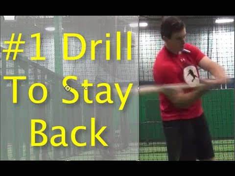 #1 Drill To Stay Back in Baseball Hitting For Youth Players