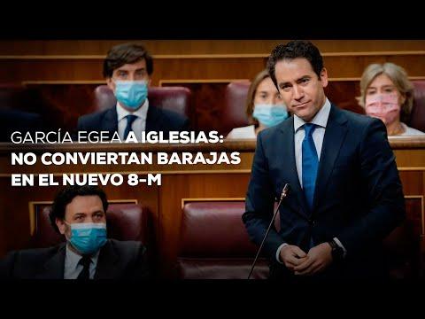 """García Egea a Iglesias: """"Les pedimos que no conviertan Barajas en el nuevo 8-M"""""""