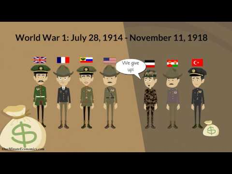 The  Economics Of World War I (First World War / WWI) In One Minute: World War 1 Facts + WW1 Numbers