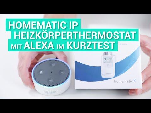 Amazon Alexa mit Homematic IP Heizkörperthermostat im Test und Review