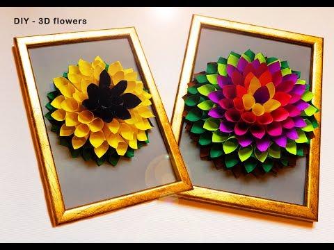 DIY Dahlia Flower gift decor