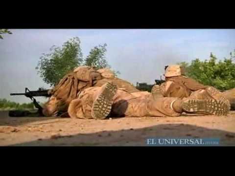 Captan en video enfrentamientos desde el frente de guerra