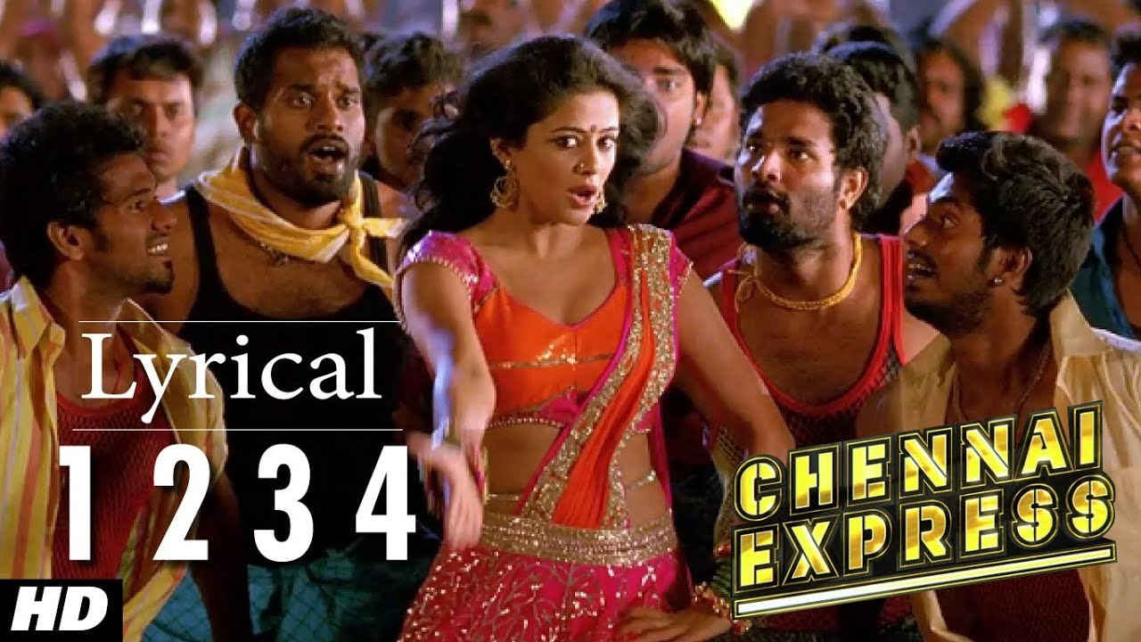 download chennai express song with lyrics one two three