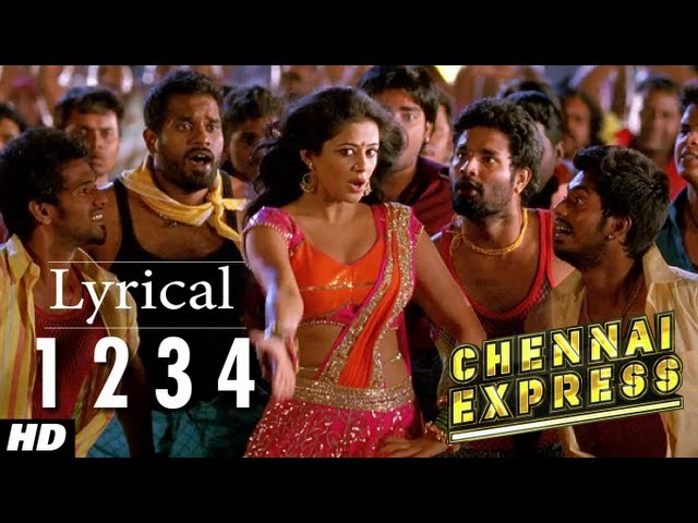 Chennai express so for 1234 get your booty on the dance floor lyrics