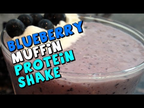 Blueberry Muffin PROTEIN Shake Recipe (Low Fat)