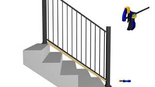 Aluminum Stair Railing Installation