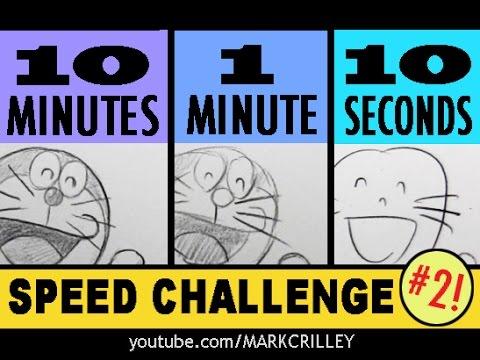 國外畫家分別用「10秒、1分鐘、10分鐘」完成插畫,他的10秒比普通人強超多的!