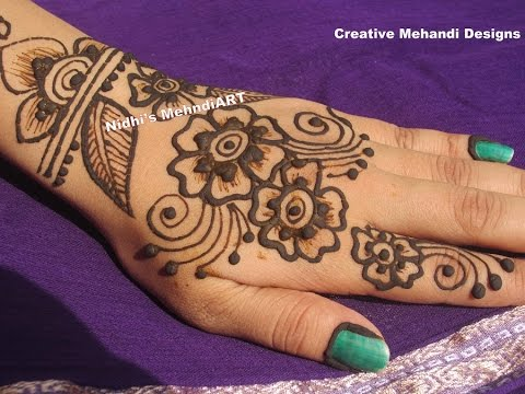Video Simple Arabic Flowery Henna Mehndi Design Tutorial for Beginners download in MP3, 3GP, MP4, WEBM, AVI, FLV January 2017