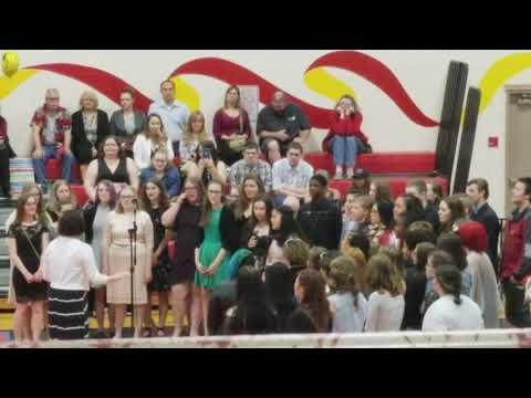 Graduation quotes - My choir class at middle school graduation