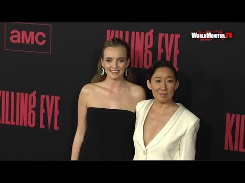 'Killing Eve' Season 2 premiere Red carpet - Jodie Comer, Sandra Oh, Fiona Shaw