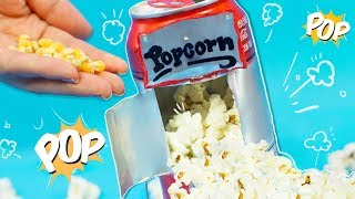 Video Make a DIY POPCORN MACHINE USING A SODA CAN ✄ Craftingeek MP3, 3GP, MP4, WEBM, AVI, FLV Juli 2018