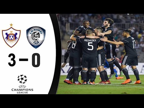 FK Qarabag 3 - 0 Kukesi : Champions League 2018/2019