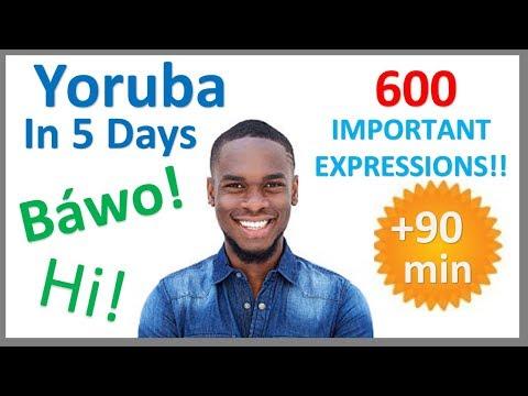 Yoruba Most Common Vocabulary | 600 Words | Easy conversation