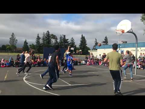 Suisun Elementary School Staff Vs. Students Basketball Game