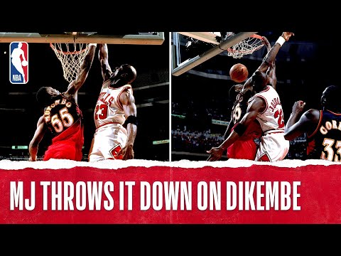 Michael Jordan Dunks On Dikembe Mutombo