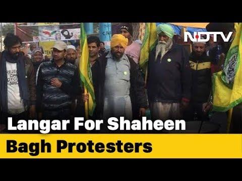 Punjab Farmers Set Up Langar, Support Delhi's Shaheen Bagh Protesters