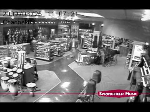 A car crashes into Springfield Music!   Music Stores in Springfield MO