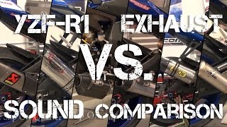 7. 2015 Yamaha YZF-R1 Exhaust Sound Comparison from Sportbiketrackgear.com