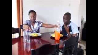 Kansiime Anne says the food prayer!!
