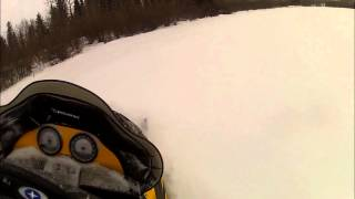 1. Carving on a Polaris Switchback 700 Shell Lake, Sask