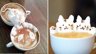 """"""" كازوكى ياماموتو"""".. مخترع فن النحت على القهوة"""
