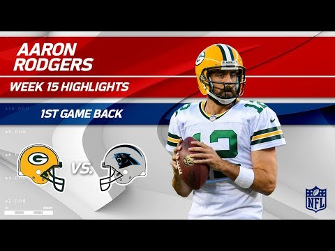 Video: Aaron Rodgers Highlights from 1st Game Back! | Packers vs. Panthers | Wk 15 Player Highlights