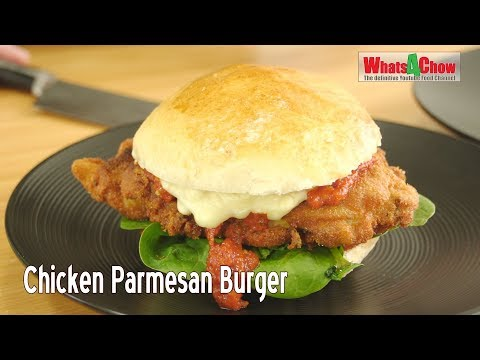 Easy Chicken Parmesan Burger - How to Make Chicken Parmesan Burgers at Home!