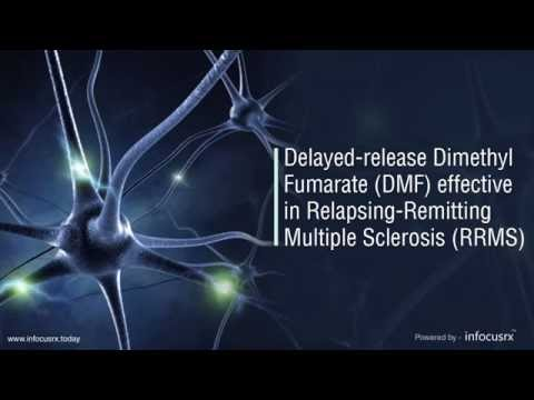 Delayed release dimethyl fumarate DMF effective in relapsing remitting multiple sclerosis RRMS