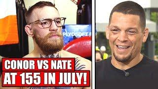 Ariel Helwani says Conor McGregor vs. Nate Diaz trilogy at 155 in July is a no brainer! - Nashville
