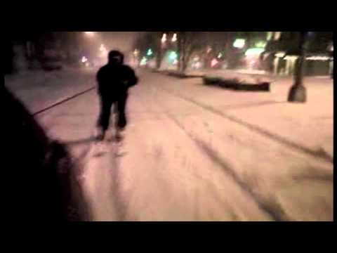 Skiing down Park Avenue