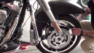 9. Remove install front wheel tire fender from Harley Davidson Motorcycle | Law Abiding Biker Podcast