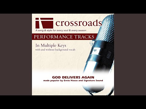 God Delivers Again (Performance Track Original without Background Vocals in C#)