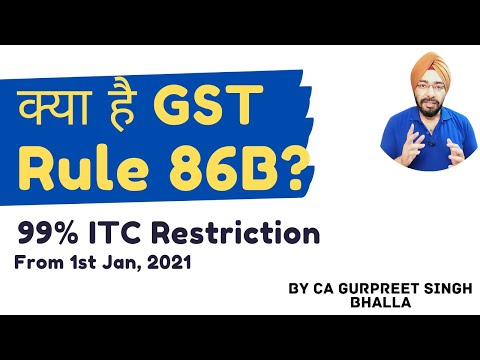GST Rule 86B   99% ITC Restriction from 1st Jan 2021   Complete Details