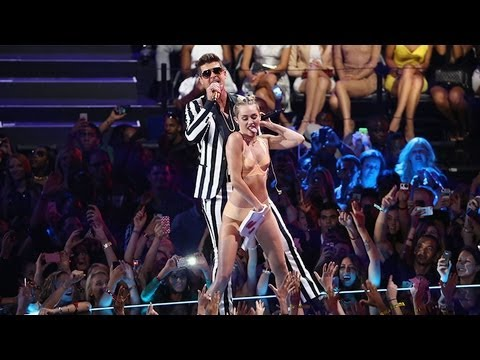 Miley Cyrus Twerks With Robin Thicke at MTV VMas – Celebrities React! | POPSUGAR News