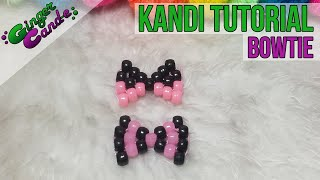 How to Make A Beaded Bowtie (Kandi) - [www.gingercande.com] - YouTube