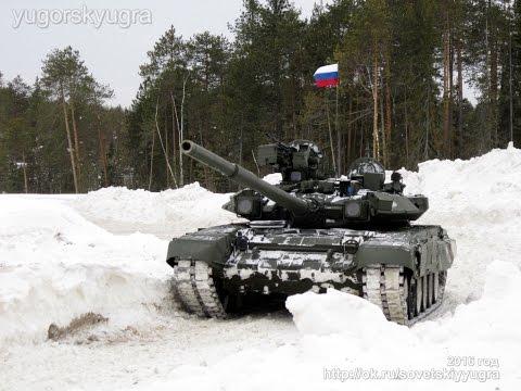Танки РОССИИ Т-90 в Югорске 23 Февраля 2016_го. Автор видео: Юрий Кочев