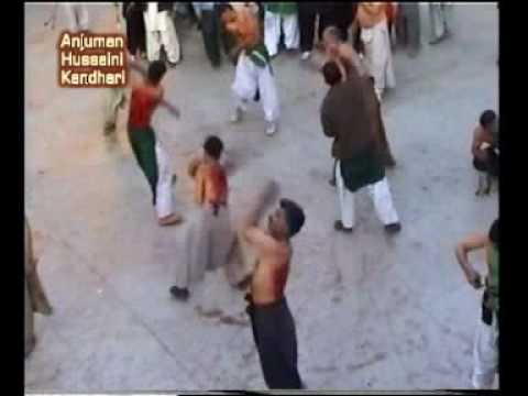 Matam - Anjuman Hussaini Kandhari Quetta Ashoora 2009 Matam Zanjeerzani inside the imambargah...commonly known as tola khakbad....or ya hussain shah hussain Part 1.