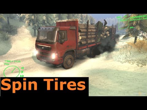 Volvo FM 6x6 Timber Truck - Spin Tires tech dev demo gameplay, commentary, let's play. 1080p HD 2014