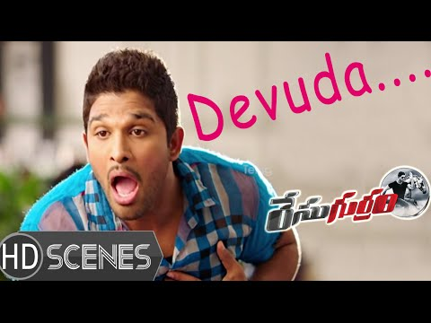 Allu Arjun shocked at Shruti Hassan character - Race Gurram Movie Comedy Scenes