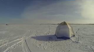 Рыболовный клуб Балычок, рыбалка в Приозерске, Балхаш, Казахстан, зима 2014 г.